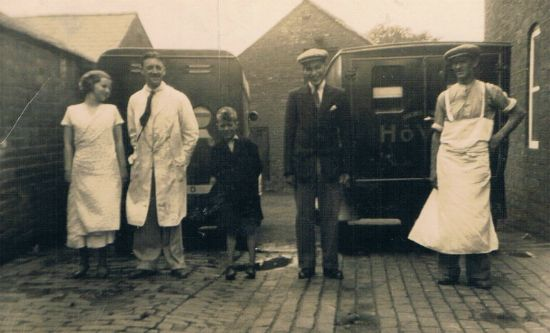 Bill Barclay & Dick Green at Broads Circa 1930